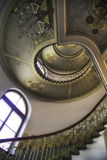 Spiral art nouveau staircase in Riga Royalty Free Stock Image