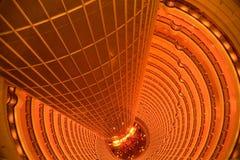 Spiral atrium. In Jinmao tower,Shanghai,China Stock Image