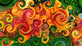 Spiral av färger vektor illustrationer