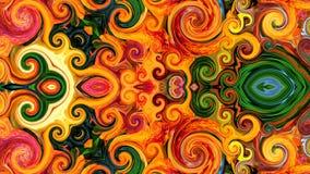 Spiral av färger royaltyfri illustrationer