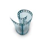 Spiral av filmremsan Arkivbilder