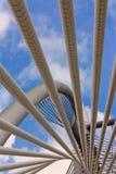 Spiral av Poles på upphängningbron, Putrajaya Royaltyfri Bild