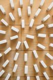 Spiral av vitt domino arkivbild