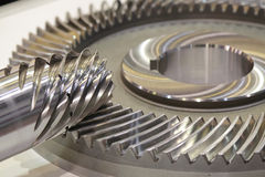 Spiral axel för fasat kugghjul 2 Arkivfoton