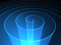 Spiral background. Blue transparent spiral technology  background Royalty Free Stock Photography