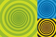 Spiral Background. Abstract background texture in three different colors combinations Royalty Free Stock Photo