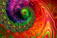 Spiral background - abstract digitally generated image Royalty Free Stock Photo