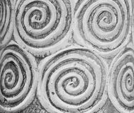 Spiral bake clay texture Royalty Free Stock Photography