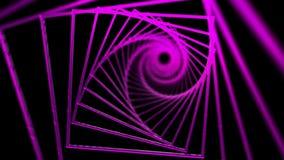 Spiral bakgrund av rosa fyrkanter arkivfilmer