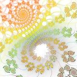 Spiral bakgrund för vår Royaltyfri Foto