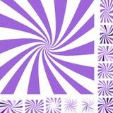 Spiral bakgrundsuppsättning för lilor Royaltyfri Foto