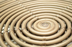 Spiral. Bamboo spiral abstract and background Royalty Free Stock Images