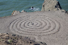 Spiral at the bay. Stock Photos