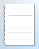 Spiral bind notebook. Blank notebook with lined pages Stock Photography
