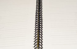 Spiral binding. On a writing diary Stock Images