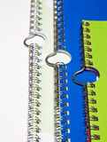 Spiral binding with hanger. Detail of spiral binding with hanger Royalty Free Stock Images