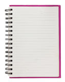 Spiral blank notebook  isolated on white Stock Photo