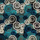 Spiral blue seamless Stock Photography