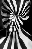 Spiral bodyart on the body of a young girl. Look like zebra pattern skin Stock Photography