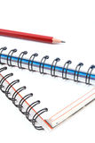 Spiral books and pencil Royalty Free Stock Photo