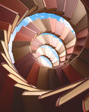 Spiral Books. Several spiral books concept of knowledge and growth Stock Images
