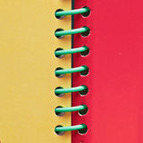 Spiral bound book Royalty Free Stock Photography