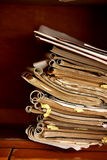 Spiral bound books. Old spiral bound books kept one top of each other Royalty Free Stock Photography