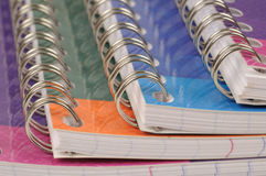 Spiral bound exercise book Stock Images