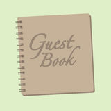 Spiral bound Guest book Stock Photo