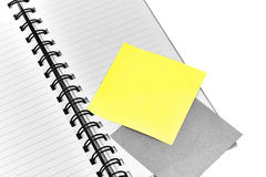 Spiral bound lined notebook with blank note paper Royalty Free Stock Photo