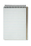 Spiral bound note pad Stock Image