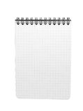 Spiral bound note pad isolated. On white Royalty Free Stock Photography