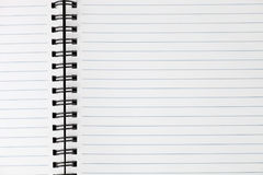 Spiral-bound Notebook. Spiral bound notebook. Open blank page. Horizontal Stock Photo
