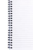 Spiral bound notebook Stock Photos