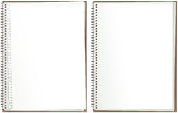 Spiral bound paper notepad Stock Photos