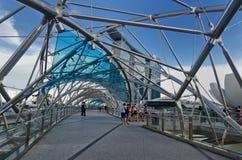Spiral Brdige Singapore Arkivfoto