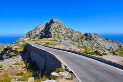The Spiral bridge on the mountain road to Sa Calobra Stock Photo
