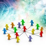 Spiral business network connection Stock Images