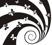 Spiral with butterflies Royalty Free Stock Photography