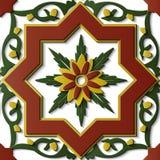 Spiral c för stjärna för modell för sömlös lättnadsskulpturgarnering retro stock illustrationer