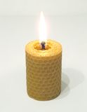 Spiral Candle. Natural spiral candle made of wax Royalty Free Stock Images