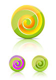 Spiral candy.  lollipop Royalty Free Stock Images