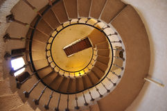 Spiral Castle Staircase. Ornate Vintage Spiral Castle Tower Staircase in Death Valley, California Stock Photography