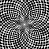Spiral checkerboard, 3 grey Royalty Free Stock Photo