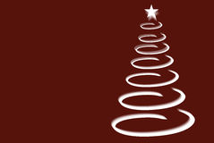 Spiral Christmas tree Stock Photos