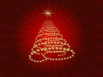 Spiral Christmas Tree Stock Image