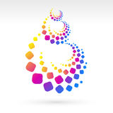 Spiral Christmas tree element Royalty Free Stock Images