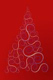 Spiral Christmas Tree. Vector illustration of an abstract tree made of dot spirals. Downloadable also in .eps format Royalty Free Stock Image