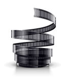 Spiral of cinematography film tape. Eps10  illustration.  on white background Stock Photos