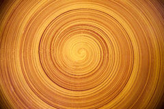 Spiral circular wooden texture background. Taken from wooden table Royalty Free Stock Photos